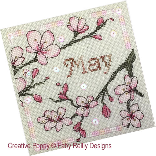 Anthea - May Blossoms cross stitch pattern by Faby Reilly Designs