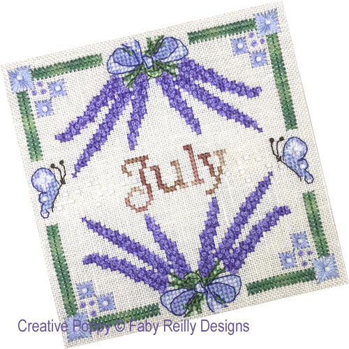 Anthea - July Lavender cross stitch pattern by Faby Reilly Designs