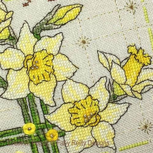 Daffodil patterns to cross stitch