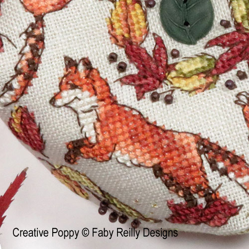 Ring a Ring o'Foxes cross stitch pattern by Faby Reilly Designs, zoom 1