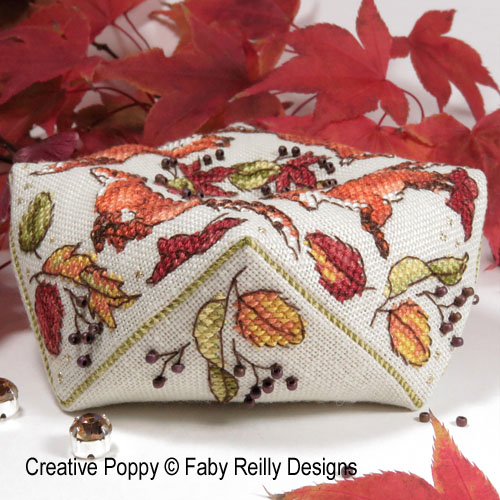 Ring a Ring o'Foxes cross stitch pattern by Faby Reilly Designs