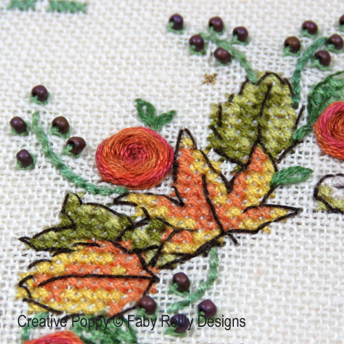 Autumn Wreath cross stitch pattern by Faby Reilly Designs