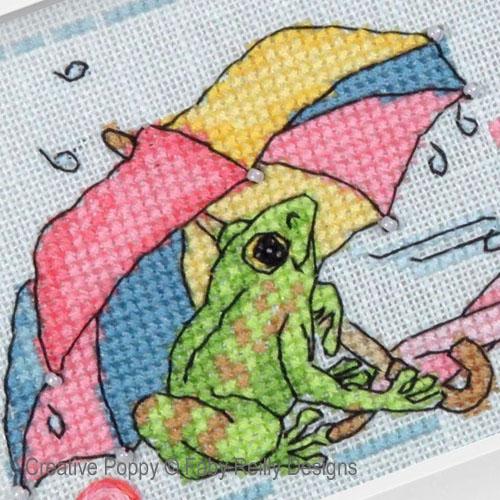raining patterns to cross stitch