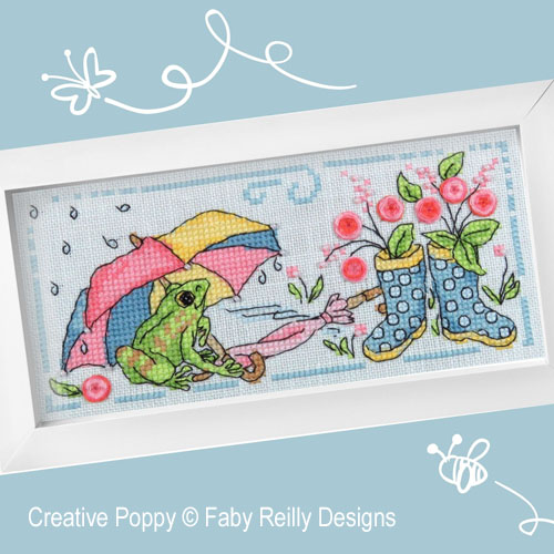 Brollies & Wellies cross stitch pattern by Faby Reilly Designs