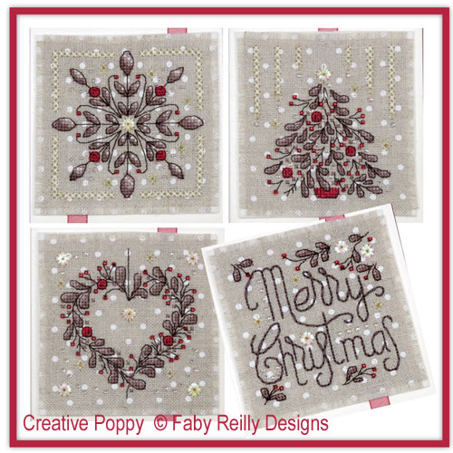 Christie Greeting Cards cross stitch pattern by Faby Reilly Designs