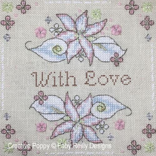 White Flowers patterns to cross stitch
