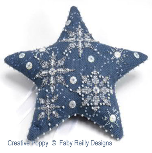 Let it Snow - Star Ornament cross stitch pattern by Faby Reilly Designs