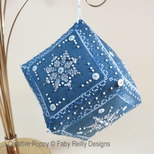 Let it Snow Cube cross stitch pattern by Faby Reilly