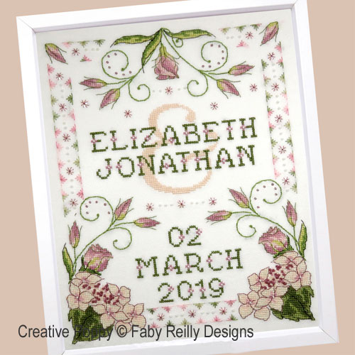 Lizzie Wedding Sampler cross stitch pattern by Faby Reilly Designs