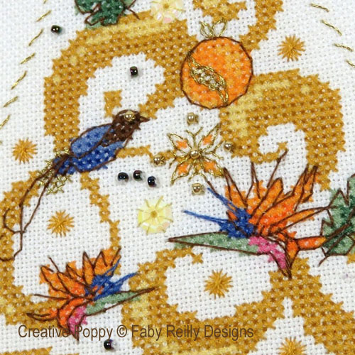 O Tannebaum in Gold cross stitch pattern by Faby Reilly Designs, zoom 1
