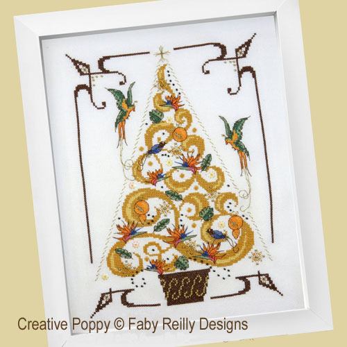 O Tannebaum in Gold cross stitch pattern by Faby Reilly Designs