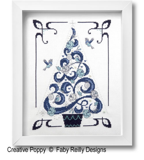 O Tannenbaum in Blue cross stitch pattern by Faby Reilly Designs