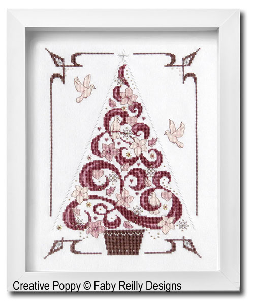 O Tannenbaum in Pink cross stitch pattern by Faby Reilly