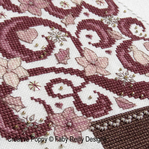 O Tannenbaum in Pink cross stitch pattern by Faby Reilly, zoom 1