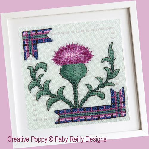 Sassy Thistle - Quick Challenge: Long and Short stitch cross stitch pattern by Faby Reilly Designs