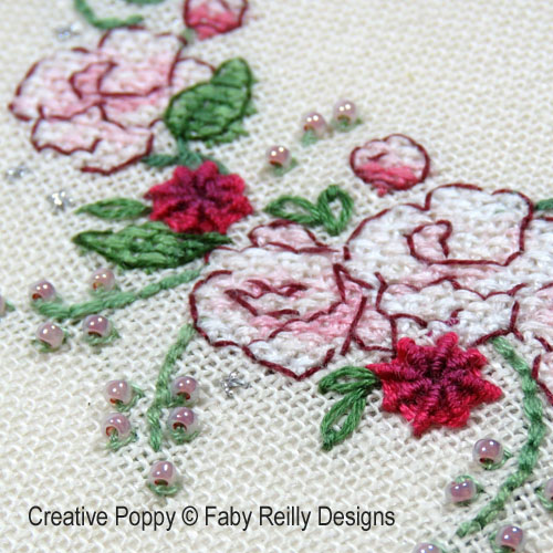Shannon Christine Designs - Romantic Rose zoom 1 (cross stitch chart)