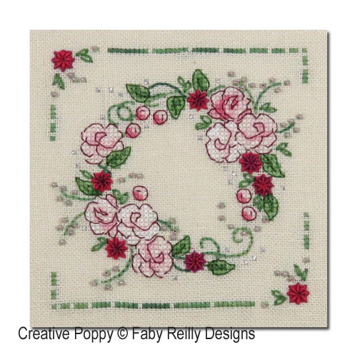 Spring Wreath cross stitch pattern by Faby Reilly