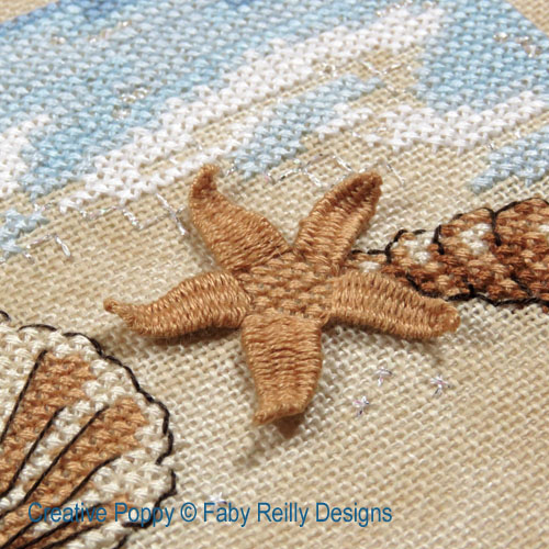Stroll on the beach cross stitch pattern by Faby Reilly Designs