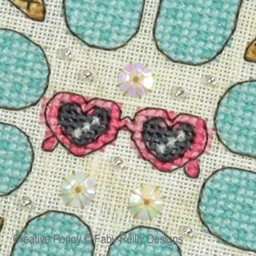Summer Dreams Mandala cross stitch pattern by Faby Reilly Designs, zoom 1