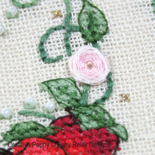 Summer Wreath cross stitch pattern by Faby Reilly Designs, zoom 1