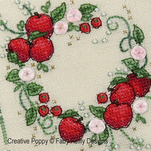 Summer Wreath cross stitch pattern by Faby Reilly Designs
