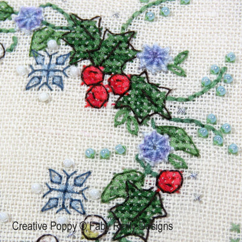 Winter Wreath cross stitch pattern by Faby Reilly Designs