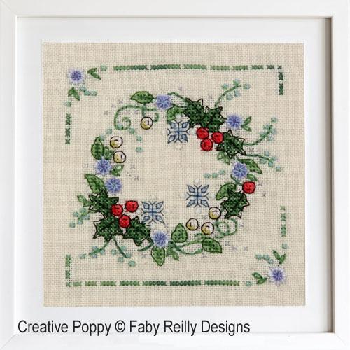 Winter Wreath cross stitch pattern by Faby Reilly Designs