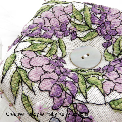 Purple Flowers patterns to cross stitch