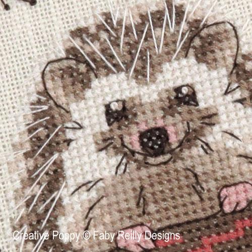 Woodland Hedgehog cross stitch pattern by Faby Reilly Designs, zoom 1