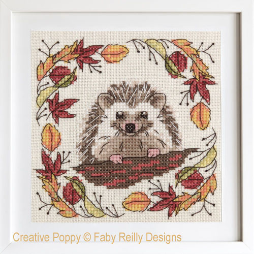 Woodland Hedgehog cross stitch pattern by Faby Reilly Designs