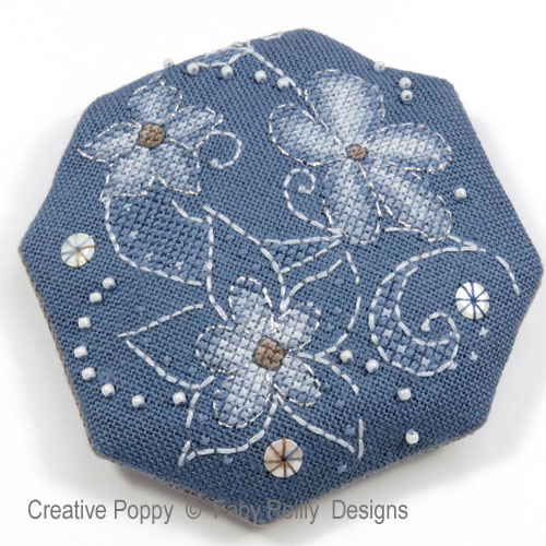 Flora Pouch cross stitch pattern by Faby Reilly Designs, zoom 1