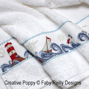 <b>High Seas band (Nautical decor)</b><br/>cross stitch pattern<br />by <b>Faby Reilly Designs</b>