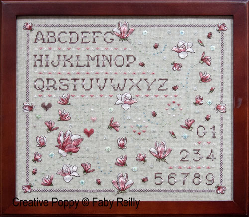 Faby Reilly Designs - Magnolia sampler (cross stitch chart)