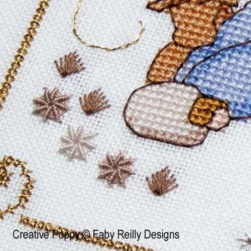 Faby Reilly Designs - Christmas nativity frame (cross stitch pattern)