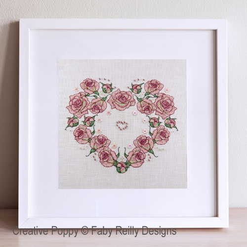 Faby Reilly Designs - Once upon a Rose Heart (cross stitch pattern)