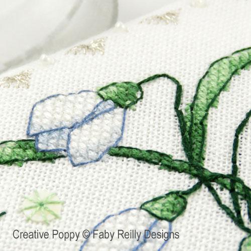 Snowdrop Scissor case cross stitch pattern by Faby Reilly Designs, zoom 1
