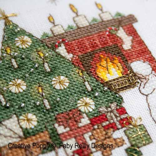 Cross stitch patterns featuring Christmas Lights