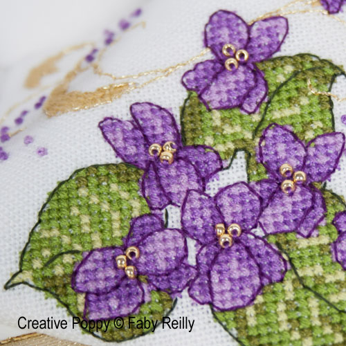 Faby Reilly Designs - Violet Scissor Case and Fob zoom 1 (cross stitch chart)