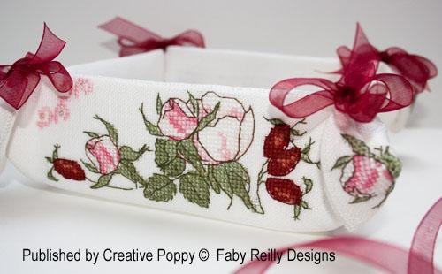 Wildrose Desk/Room tidy cross stitch pattern by Faby Reilly Design, zoom 1