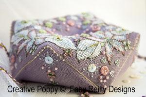 Wintry Blooms biscornu cross stitch pattern by Faby Reilly, zoom 1