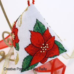Poinsettia & Ribbon Humbug
