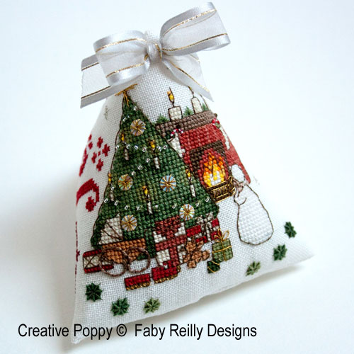 Victorian Christmas Humbug Ornament cross stitch pattern by Faby Reilly Designs