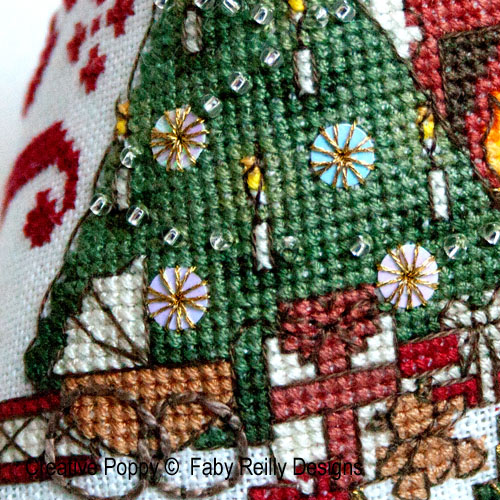 Victorian Christmas Humbug Ornament cross stitch pattern by Faby Reilly Designs, zoom3