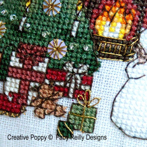 Victorian Christmas Humbug Ornament cross stitch pattern by Faby Reilly Designs, zoom1