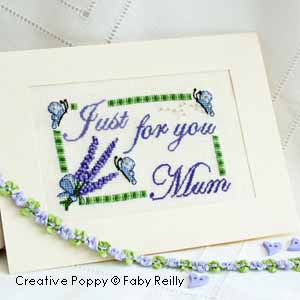 Mother's Day card to cross stitch - lavender