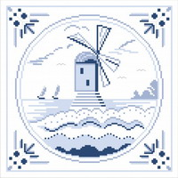 Delft Blue cross stitch pattern by Monique Bonnin