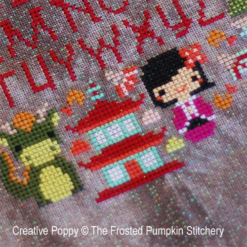 The Frosted Pumpkin Stitchery - The Cherry Blossom Festival (cross stitch chart)