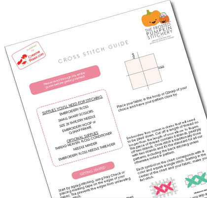 Cross Stitch Guide cross stitch pattern by The Frosted Pumpkin