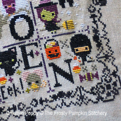 Halloween Spooky Sampler cross stitch pattern by The Frosted Pumpkin Stitchery, zoom2