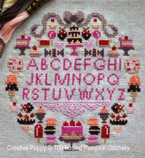 Sugar is Sweet cross stitch pattern by The Frosted Pumpkin Stitchery